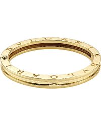BVLGARI - B.zero1 18kt Yellow-gold Bangle - Lyst