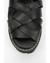 Jeffrey Campbell - Black Cake Treaded Platform Sandal - Lyst