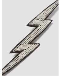 Macon & Lesquoy - Metallic Eclair Silver Lightning Bolt Brooch Silver - Lyst