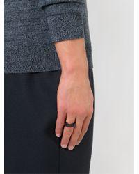 Alexander McQueen - Black Twin Skull Ring for Men - Lyst