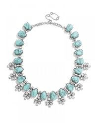 BaubleBar Green Crystal Wreath Collar-Turquoise/Antique Silver