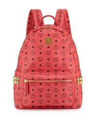 MCM - Red 'Stark' Backpack - Lyst