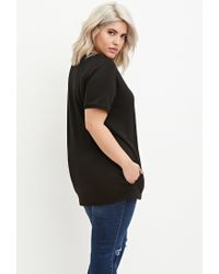 Forever 21 - Black Plus Size Classic Raglan Tee - Lyst