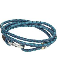 Paul Smith | Blue Leather Wrap Bracelet | Lyst