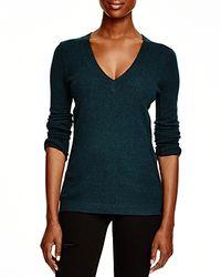 Aqua - Black Cashmere Cashmere V-neck Sweater - Lyst