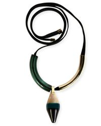 Marni | Green Colorblock Geometric Pendant Tie Necklace | Lyst