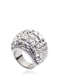 Swarovski | Metallic Silver-Tone Multiple Crystal Ring Size 6 | Lyst
