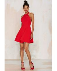 Nasty Gal | Red Love & Kisses Halter Dress | Lyst