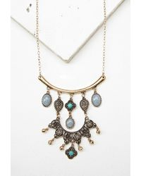 Forever 21 - Multicolor Faux Stone Longline Necklace - Lyst