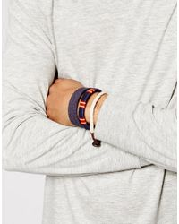 ASOS - Bracelet Pack In Blue And Red for Men - Lyst