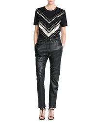 Balmain - Leather Track Pants - Black - Lyst