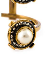 Alexander McQueen - Metallic Military Bracelet - Lyst