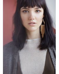 Mango - Metallic Asymetric Earrings - Lyst