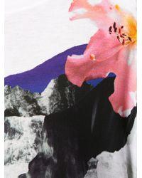 Prabal Gurung - Multicolor Abstract Floral Crewneck T-Shirt - Lyst