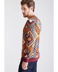 Forever 21 - Brown Print Sweatshirt - Lyst