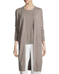 Lafayette 148 New York | Brown Button-front Wool Duster | Lyst