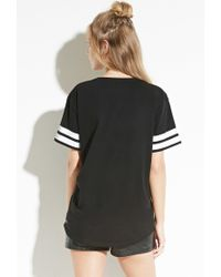 Forever 21 - Black Zee.gee.why. Striped Sleeve Tee - Lyst