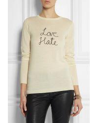 Bella Freud | White Love Hate Wool Sweater | Lyst