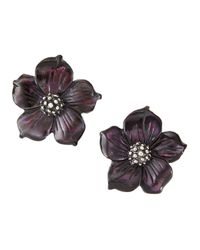 Stephen Dweck | Purple Mother-of-pearl Flower Stud Earrings | Lyst