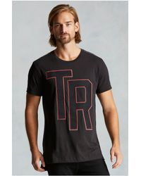 True Religion | Black Reflective Mesh Tr Graphic Mens Tee for Men | Lyst