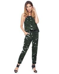 Ella Moss | Green Jungle Floral Jumpsuit | Lyst