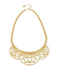 Trina Turk | Metallic Openwork Bib Necklace | Lyst
