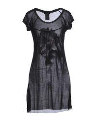 CoSTUME NATIONAL - Black Short Dress - Lyst