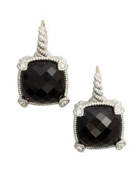 Judith Ripka | Black Large Cushion Stone Earring W4 | Lyst