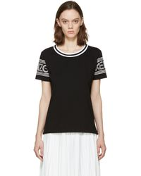 KENZO - Black And White Logo T-shirt - Lyst