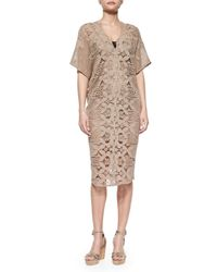 Miguelina - Natural Kate Cotton Dress - Lyst