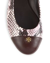 Tory Burch - Natural York Leather Ballet Flats - Lyst