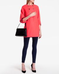 Ted Baker | Orange Double Breasted Wool Coat | Lyst