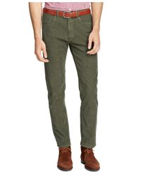 Brooks Brothers - Green Five-pocket Corduroys for Men - Lyst