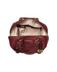 MICHAEL Michael Kors   Purple Ava Small Leather Satchel   Lyst