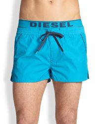 DIESEL - Blue Barrerly Swim Shorts for Men - Lyst