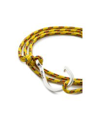 Miansai | Yellow Silver Hook Rope Wrap Bracelet for Men | Lyst