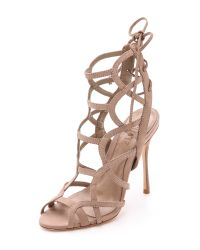 Schutz - Natural Joelle Strappy Sandals - Lyst