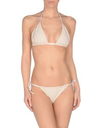 Fendi | White Checked-Print Triangle Bikini | Lyst