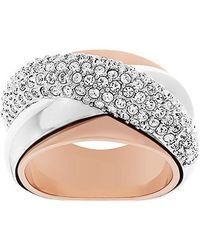 Swarovski | Pink Wave Ring | Lyst