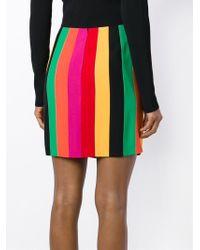 Moschino - Green Striped Mini Skirt - Lyst