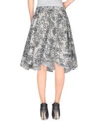 Julien David - White Knee Length Skirt - Lyst
