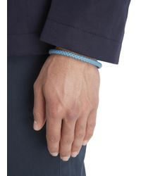 Simon Carter | Blue Woven Leather Bracelet for Men | Lyst
