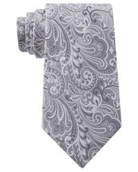 Geoffrey Beene - White Paisley Statement Tie for Men - Lyst