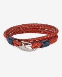Ted Baker - Red Block Colour Leather Bracelet for Men - Lyst