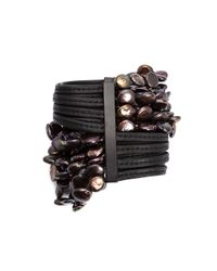 Monies | Black Multi Beaded Strands Bracelet | Lyst