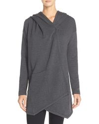 Zella - Gray 'cozy Cozy' Hooded Wrap - Lyst