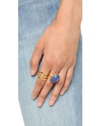 Madewell | Blue Oval Moon Statement Ring - Bright Cobalt | Lyst