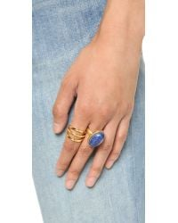 Madewell - Blue Oval Moon Statement Ring - Bright Cobalt - Lyst