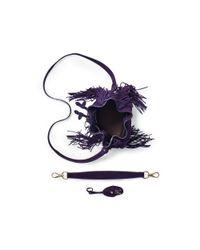Ralph Lauren - Purple Small Ricky Drawstring Bag - Lyst