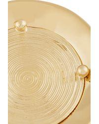 Chloé - Metallic Chloé Djill Gold-tone Disk Ring - Lyst